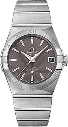 Omega Men's 12310382106001 Constellation Analog Display Swiss Automatic Silver Watch