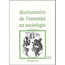 Dictionnaire de l'essentiel en sociologie