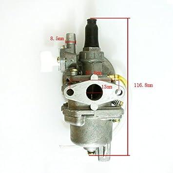 Carburador de 2 tiempos de bolsillo chino Rocket bici de la Suciedad de carbohidratos 49cc 47cc