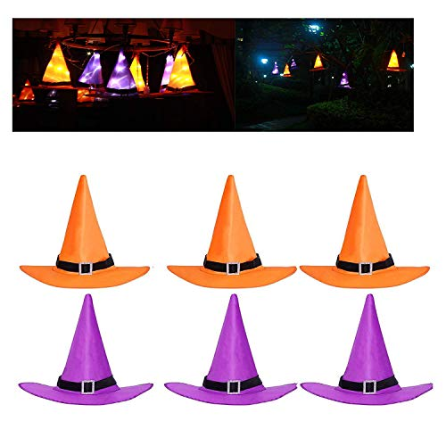 Joy Net Halloween Decorations Witch Hats Caps String Lights Outdoor Lights (6PC Hats 6M) ()
