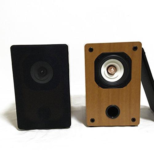 IWISTAO HiFi 4 Inches Full Range Speakers Stereo Bookshelf 4 ohms 70Hz-20KHz 88dB 2x25W Acoustical Phase Inverter for Tube Amplifier