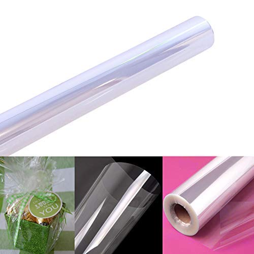 Clear Cellophane Wrap Roll | 100' Ft. Long X 16