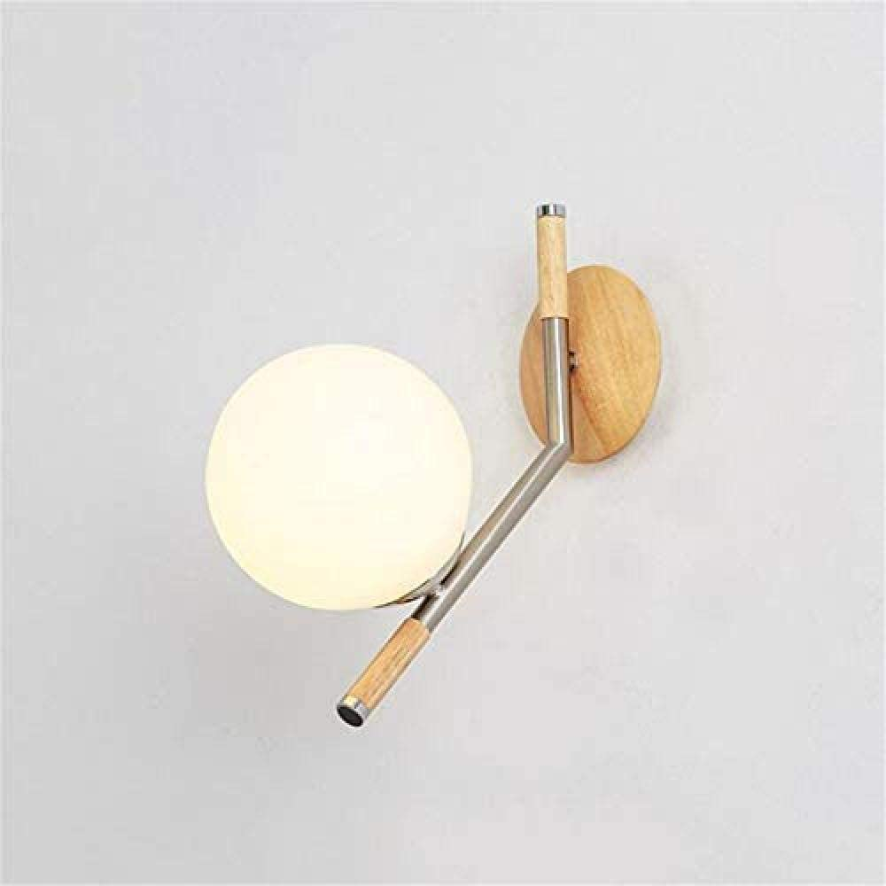 Firsthgus Wall Lamp for Living Room/Bedroom Wall Sconce Decorative Lighting Indoor Round Spherical Glass Wall Light Simple Magic Bean Metal Iron Art Wall Light Home Decoration Lighting