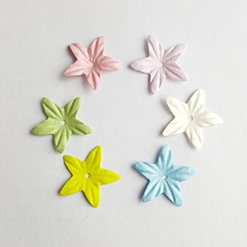 Lavenz 2.8cm Scrapbooking paper flowers, scrapbook decoration,5 color mixed, 60pcs/lot ,