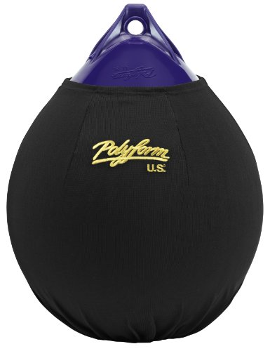 Polyform US EFC-A4 Fender Cover, Black (Fits 21-Inch Diam. A-4 Buoy) (Polyform Boat Fenders)