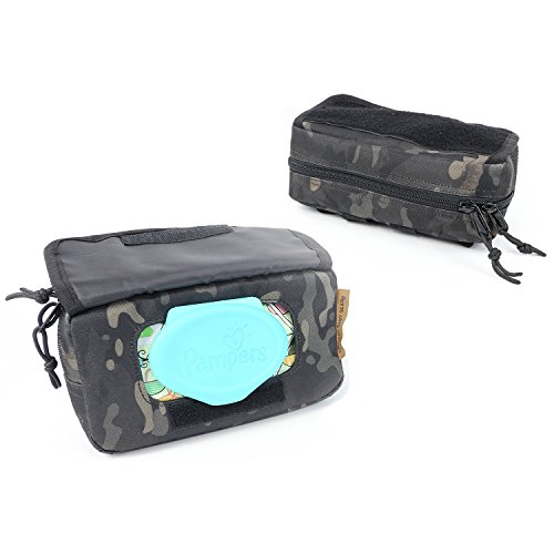 Tactical Baby Gear Molle Baby Wipe Pouch 2 0  Black Camo