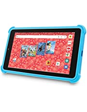 """$58 » Venturer Small Wonder 7"""" Android Kids Tablet with Disney Books, Bumper Case & Google Play, 16GB Storage & 2GB RAM Dual Band 5GHz/2.4GHz WiFi (Blue)"""