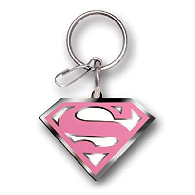 Plasticolor 004030R31 Supergirl Pink DC Comics Enamel Keychain: Automotive