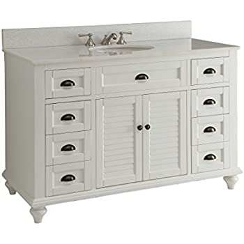 Glennville 49 Quot Cottage Bathroom Vanity Cabinet Set In