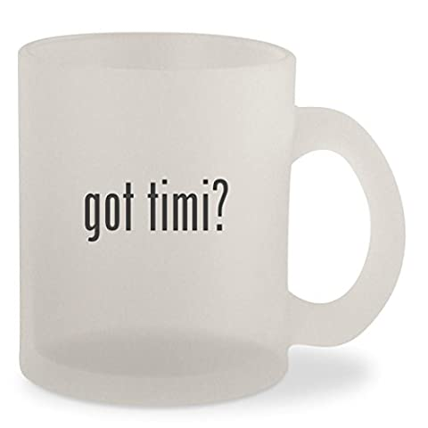 got timi? - Frosted 10oz Glass Coffee Cup Mug (Hart Bit Watches)