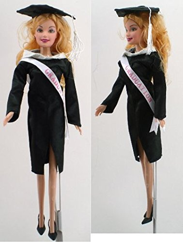 2019 Graduation Barbra Fashion Doll in Cap and Gown with Tassel -