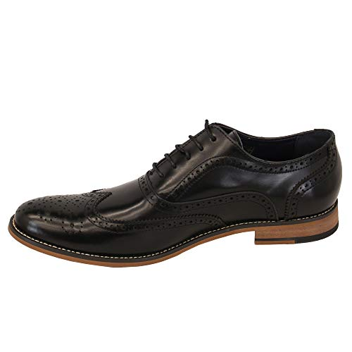 Hommes Chaussures NoirOxford Richelieu Cavani Cuir Lacets By À Pointus Habillées LUGqMVSpz