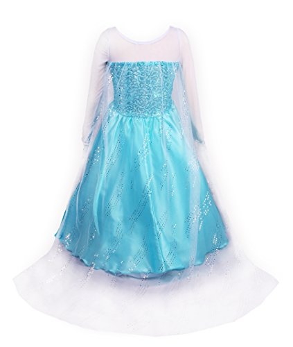 ReliBeauty Little Girl's Princess Fancy Dress Costume, 3T, Sky Blue by ReliBeauty (Image #3)