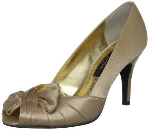 Nina Women's Forbes-Ys Peep-Toe Pump - Gold - 6 B(M) US