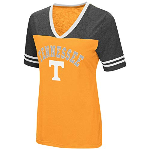 Tennessee Lady Vols T-shirts - Colosseum Women's NCAA Varsity Jersey V-Neck T-Shirt-Tennessee Vols-Orange-Medium