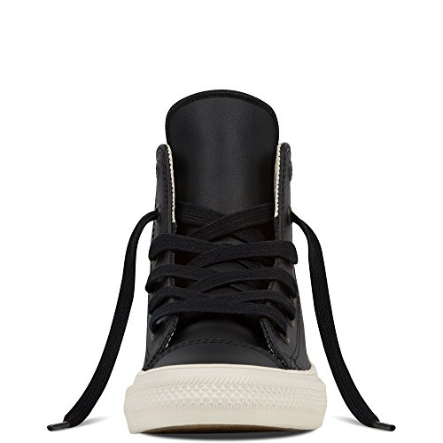 Converse Chuck Taylor All Star II Junior Black Leather Trainers negro