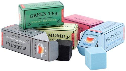 Kikkerland Tea Scented Erasers, Set of 5 (ER31)