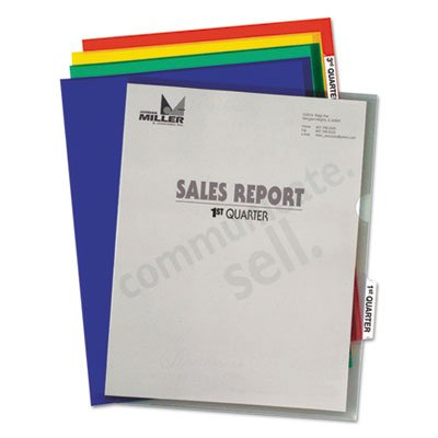 (Heavyweight Tabbed Jacket Project Folders, Letter, Poly, Assorted Colors, 25/Box, Sold as 1 Box, 25 Each per Box )