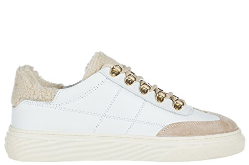 Trainers Shoes Leather Women's Sneakers White Hogan aZqPxw5