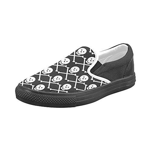 Chaussures De Toile De Slip De Crâne Dempreinteprint Pour Les Hommes