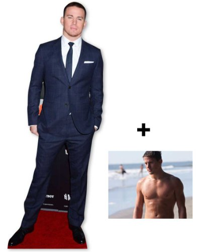 FAN PACK - Channing Tatum LIFESIZE CARDBOARD CUTOUT (STANDEE / STANDUP) - INCLUDES 8X10 (25X20CM) STAR PHOTO - FAN PACK #278