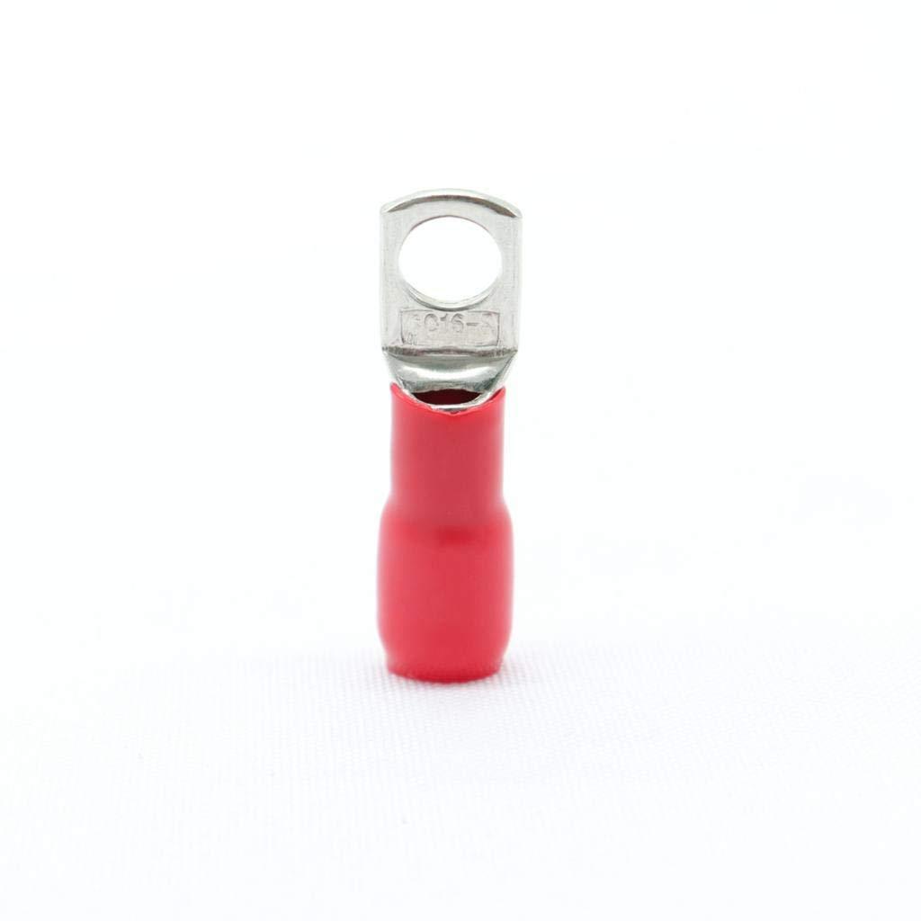 Sharplace Bornes de Tube en Cuivre Sertissage de C/âble de Soudage de Batterie 10x 16mm/²