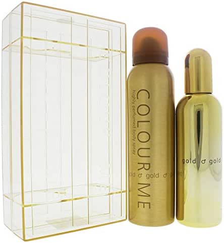 Colour Me   Gold Homme   Eau de Toilette and Body Spray   Fragrance 2 Piece Gift Set for Men   Oriental Fougere Scent   EDT Spray - 3 oz /  Body Spray - 5 oz