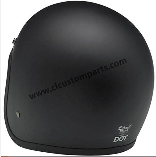 Amazon.es: Motorcycle Storehouse Biltwell Bonanza - Casco para moto Small negro mate