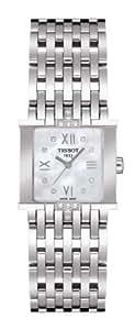 Tissot SIX-T T02158174 - Reloj de mujer de cuarzo, correa de acero inoxidable color gris