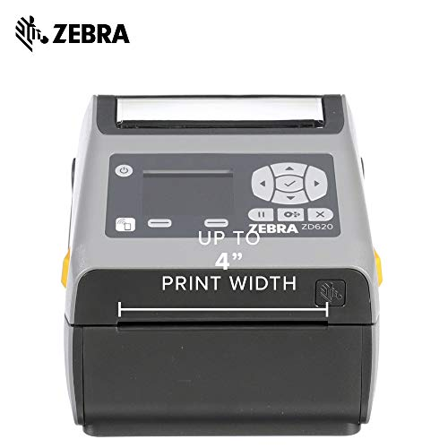Zebra - ZD620d Direct Thermal Desktop Printer with LCD Screen - Print Width 4 in - 203 dpi - Interface: Bluetooth LE, Ethernet, Serial, USB - ZD62142-D01F00EZ by Zebra Technologies (Image #2)