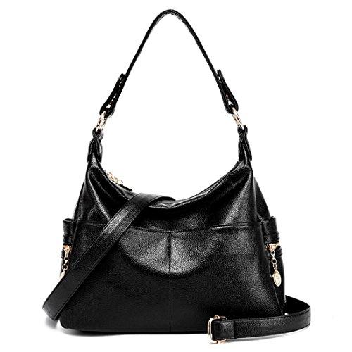 main Noir centrale sacs portefeuille en Sac bandoulière à Coutures cuir d'unité Dunland Totes Tvqgfnw