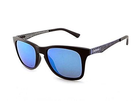 9096bb5fdb Amazon.com  Pepper s Stellar Polarized Wayfarer Sunglasses Matte Black w.  Antique Silver Temples 52 mm  Clothing