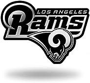 NFL Los Angeles Rams Chrome Finished Auto Emblem 3D Sticker