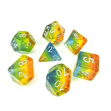 Juego de Dados de Alta definición de poliedros D&D para Mazmorras ...
