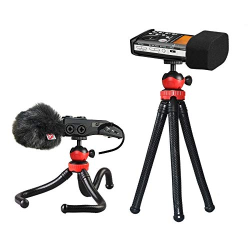 12'' Flexible Tripod Stand for Tascam Recorder DR-40 DR-05 DR-22WL DR-44WL DR-100MKIII - - Stand 12 Tripod