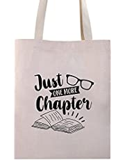 Just One More Chapter Tote Bag Funny Bookworm Book Lover Librarian Readers Gift