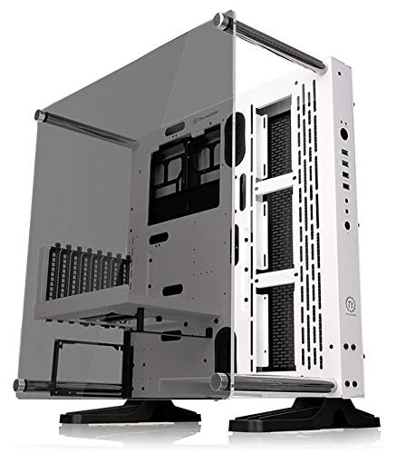 Thermaltake Core P3 ATX Tempered Glass Gaming Computer Case Chassis, Open Frame Panoramic Viewing, Glass Wall-Mount, Riser Cable Included, White Edition, CA-1G4-00M6WN-05