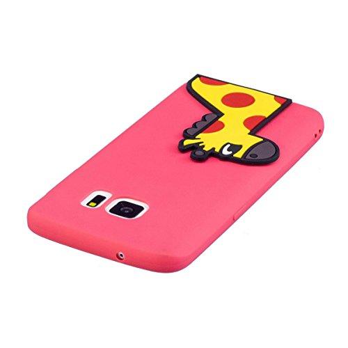 Funda Samsung Galaxy S6 Silicona, Carcasas Samsung Galaxy S6 Case Cover Dibujos Animados Flexible TPU Opaco Ultra Delgado Ultra Ligero Goma Caja Suave Gel Shock-Absorción,Anti-Arañazos y Anti-Choque B Ciervo