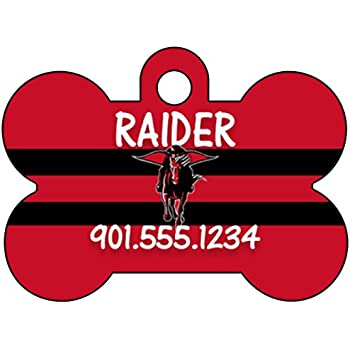 Texas Tech Red Raiders Pet Id Tag for Dogs /& Cats Personalized w// Name /& Number