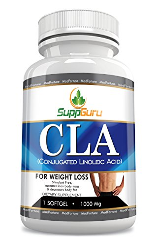 Conjugated Linoleic Acid CLA Supplement 1000milligram | Fat Burners for Natural Weight Loss Supplements | Safe, Non-stimulating, Caffeine-free | Weight Loss