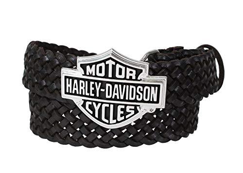 harley davidson brown belt - 5