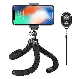 Rhodesy RT-02 Octopus Estilo Tripod Stand Titular con Bluetooth Remote para la cámara, Cualquier teléfono Inteligente con Clip