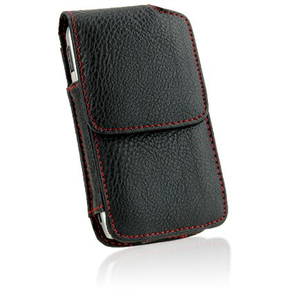 Vertical Leather Pouch for Apple iPhone / I-Touch / IPOD TOUCH II / IPHONE 3G / iPhone 3Gs, Samsung A877 / Instinct S30 / OMNIA / R800 / SGH-i607 / i617/ ACE i325 / A827 / M800 / Omnia i910, Motorola Q9m / Q9c / Motorola Q / Q9h, BLACKBERRY: 8900 / 8300 / 8830 / 8800 /Bold 9000 / 9530, HTC : HTC Excalibur / Dash / S620, NOKIA E71 ()