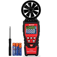 ZOTO Anemometer Handheld with LCD Color Screen, Wind Speed Meter Air Flow Meters for Measuring Wind Speed,Air Volume.MAX/MIN/AVG and Data Hold Function