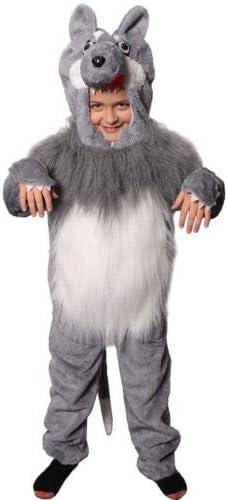 ILOVEFANCYDRESS Disfraz DE Lobo con Capucha Pieza Unica para NIÑOS(M)