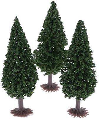 Tachiuwa HO OOスケール 樹木 木 モデルツリー 鉄道模型 ジオラマ 箱庭 DIY 装飾 高さ10cm 3個入