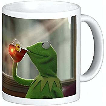 7d10a8877c151 Amazon.com | Kermit Sipping Tea Coffee Ceramic Mug 11 oz Thats None ...