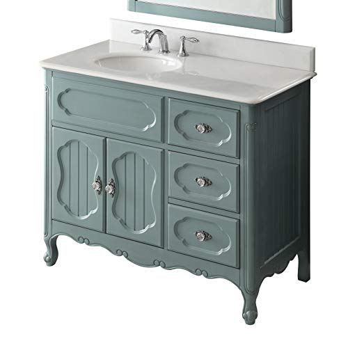 Chans Furniture 48'' Benton Collection Victorian Cottage Style Knoxville Bathroom Sink Vanity Model GD-1522BU