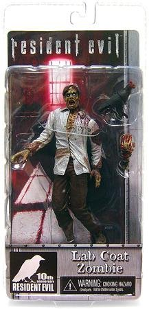 NECA Resident Evil 10th Anniversary Exclusive Action Figure Lab Coat Zombie with Raven