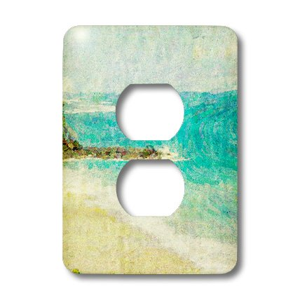 3dRose LLC lsp_47229_6 Blue Ocean Art Hawaii Travel Beach 2 Plug Outlet Cover by 3dRose